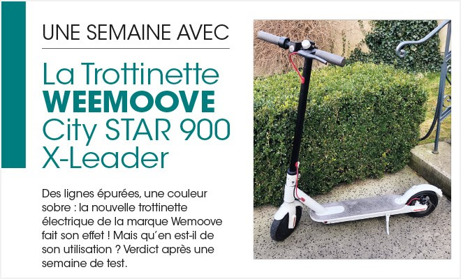 Trottinette électrique Wemoove CITY STAR 900 X-LEADER